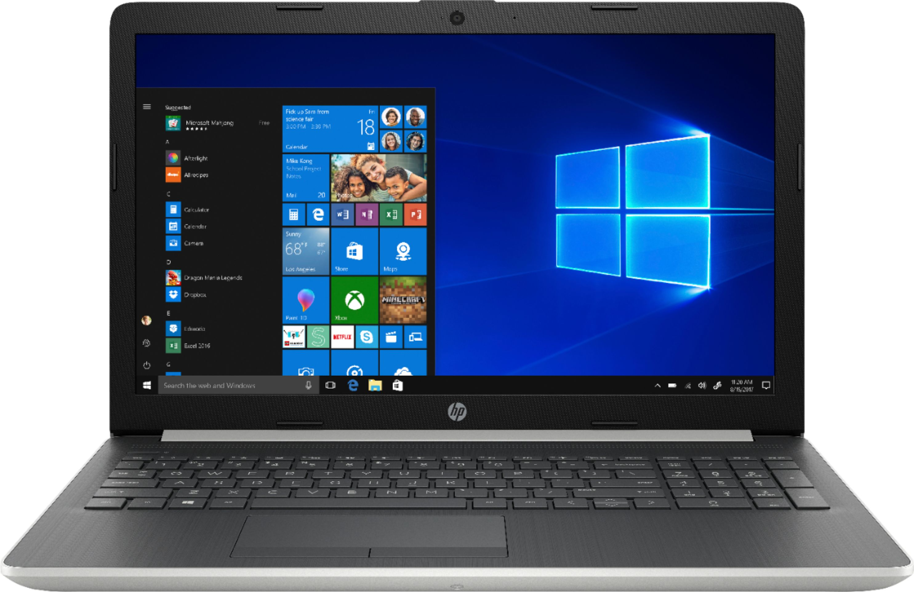 """Front Zoom. HP - 15.6"""" Touch-Screen Laptop - Core i7 - 12GB Memory - 512GB SSD - Natural silver."""
