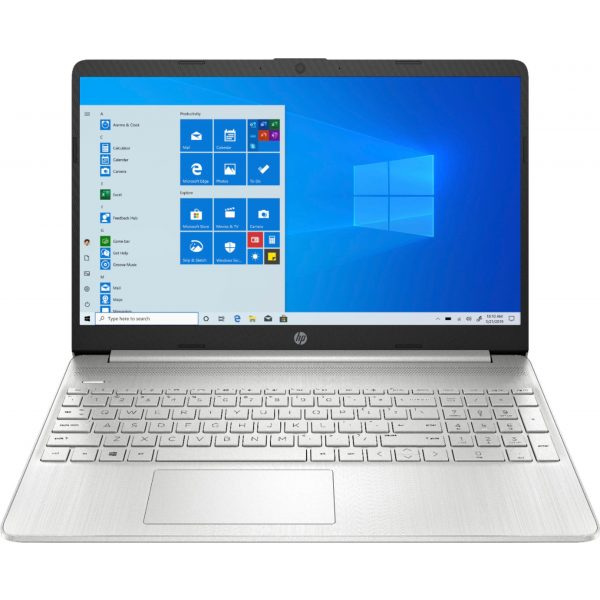 "Front Zoom. HP - 15.6"" Touch-Screen Laptop - Intel Core i5 - 12GB Memory - 256GB SSD - Natural Silver."
