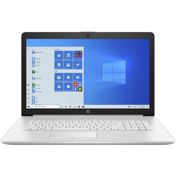 """Front Zoom. HP - 17.3"""" Touch-Screen Laptop - Intel Core i3 - 8GB Memory - 1TB HDD + 128GB SSD - Ash Silver Keyboard Frame, Natural Silver."""