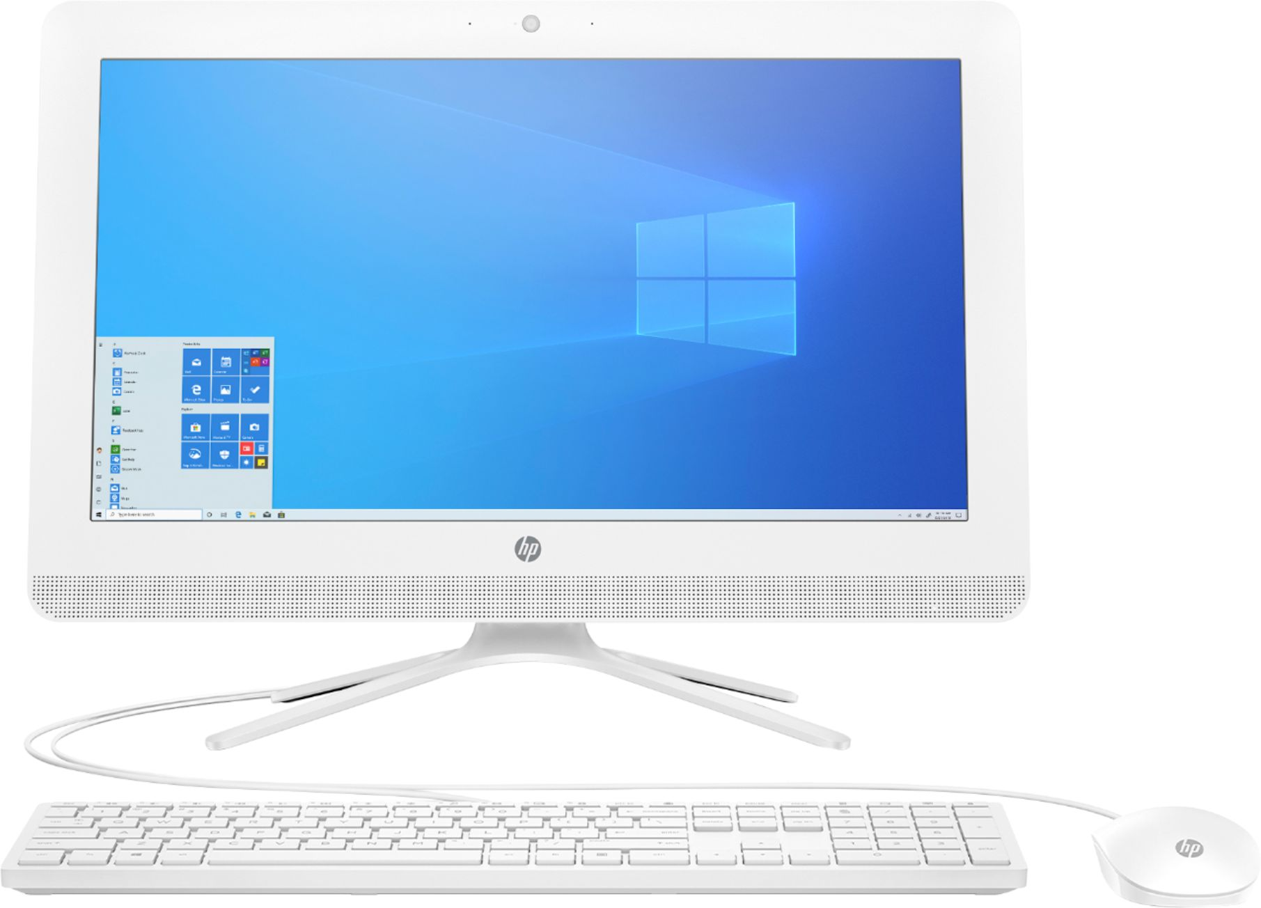 """Front Zoom. HP - 19.5"""" All-In-One - AMD A4-Series - 4GB Memory - 1TB Hard Drive - Snow White."""