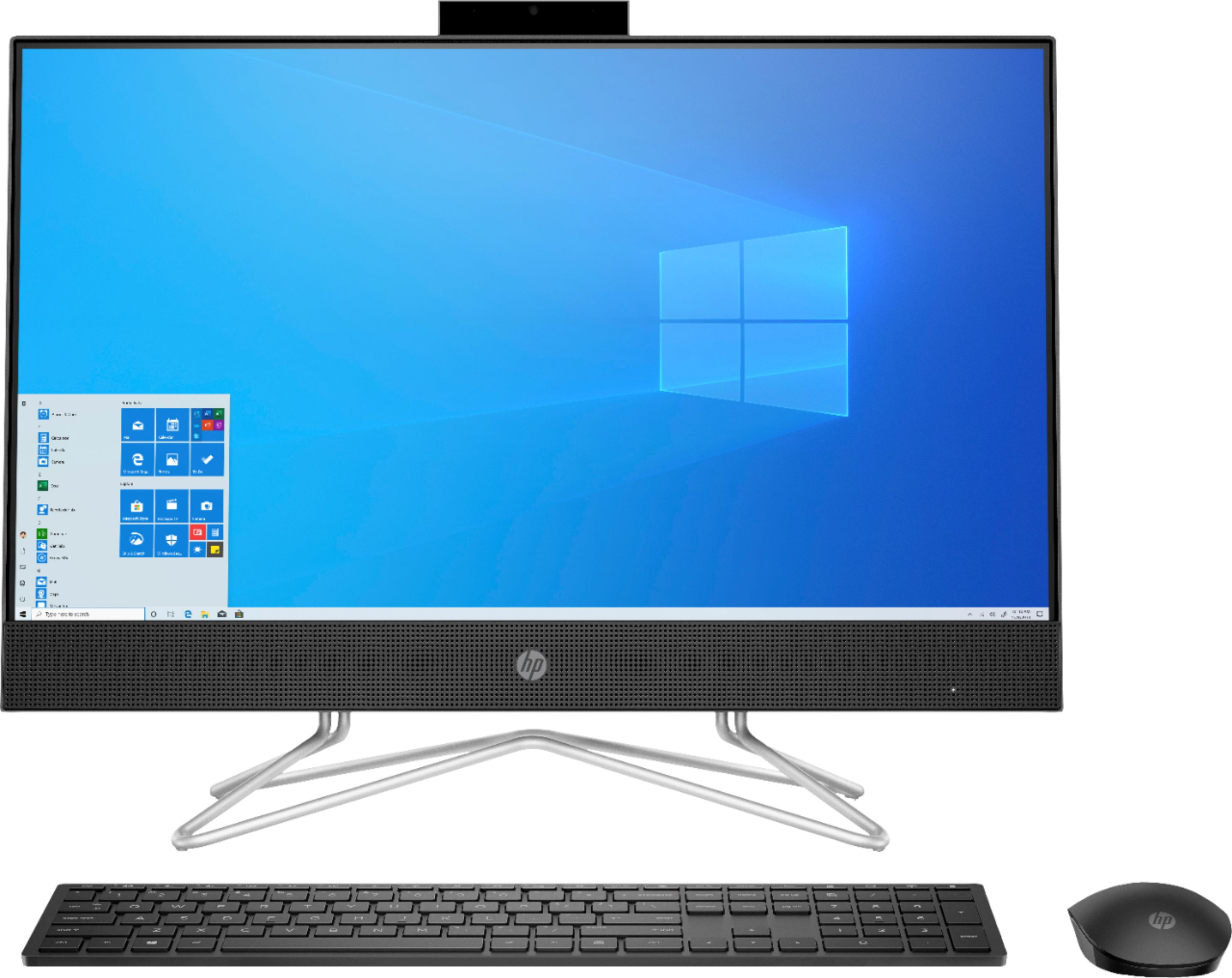 "Front Zoom. HP - 23.8"" Touch-Screen All-In-One - AMD Ryzen 3-Series - 8GB Memory - 256GB SSD - Jet Black."