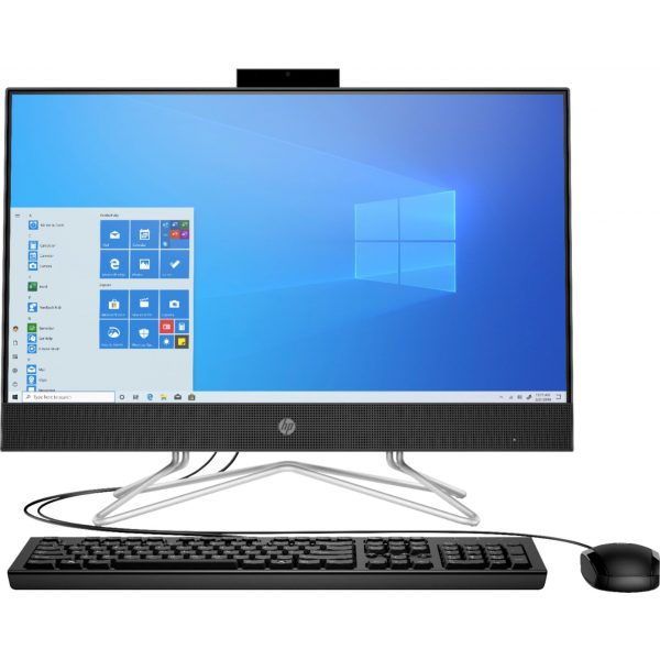 "Front Zoom. HP - 24"" All-In-One - Intel Core i3 - 8GB Memory - 256GB SSD - Black."