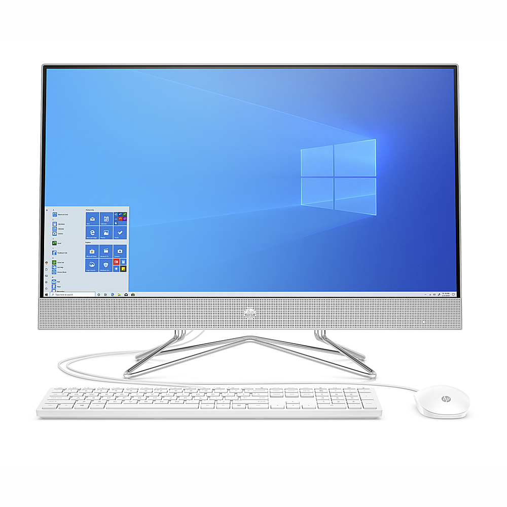 """Front Zoom. HP - 27"""" Touch-Screen All - In- One - Intel Core i5-1035G1 - 12GB - 512GB SSD."""