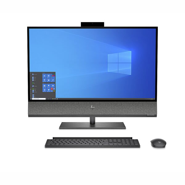 """Front Zoom. HP - 31.5""""- All -In-One - Intel Core i7-9700 - 16GB Memory - 1TB Hard Drive - Black."""