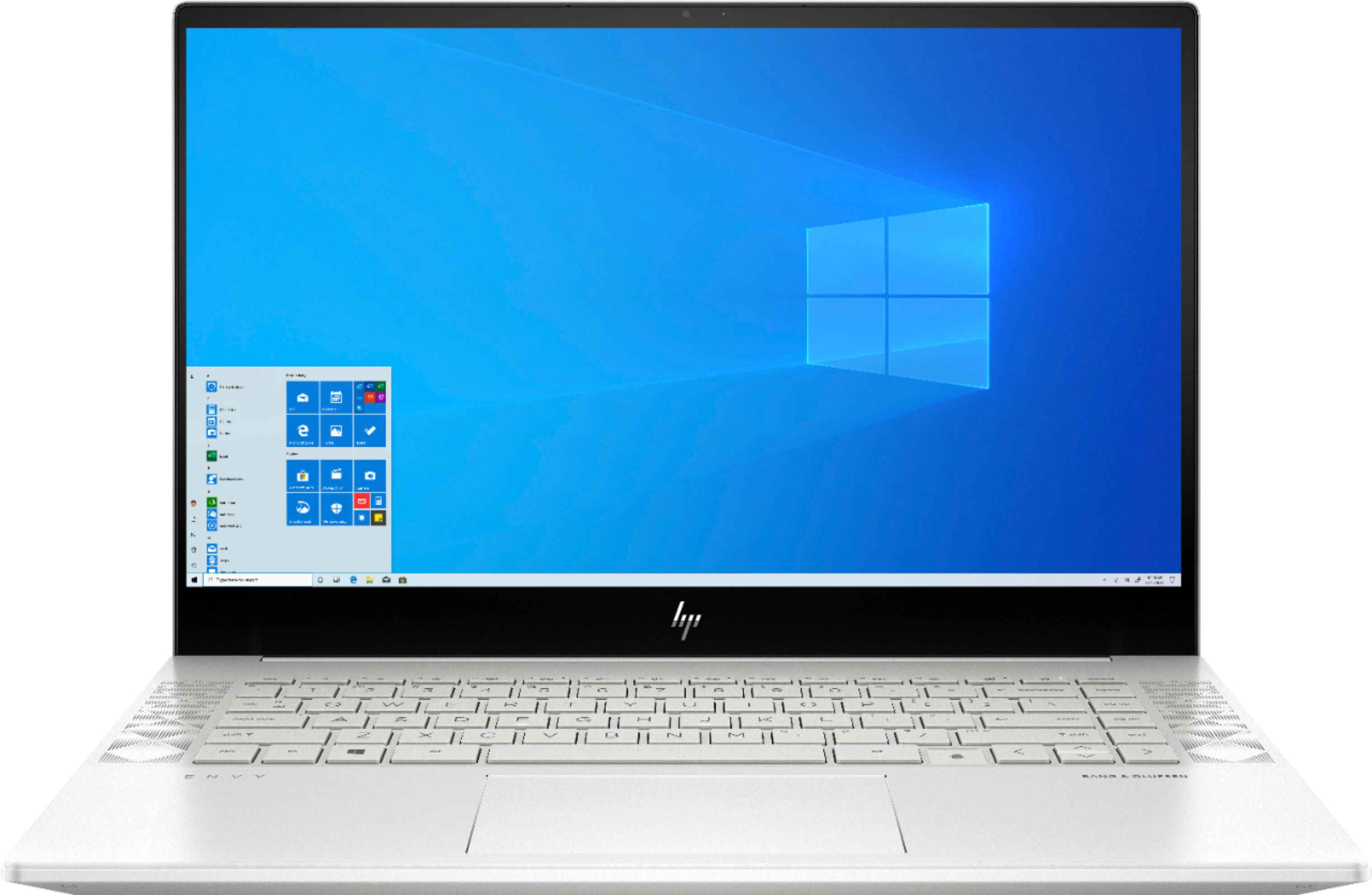 """Front Zoom. HP - ENVY 15.6"""" 4K UHD Touch-Screen Laptop -  Intel Core i7 - 16GB Memory - NVIDIA GeForce RTX 2060 - 512GB SSD + 32GB Optane - Natural Silver."""