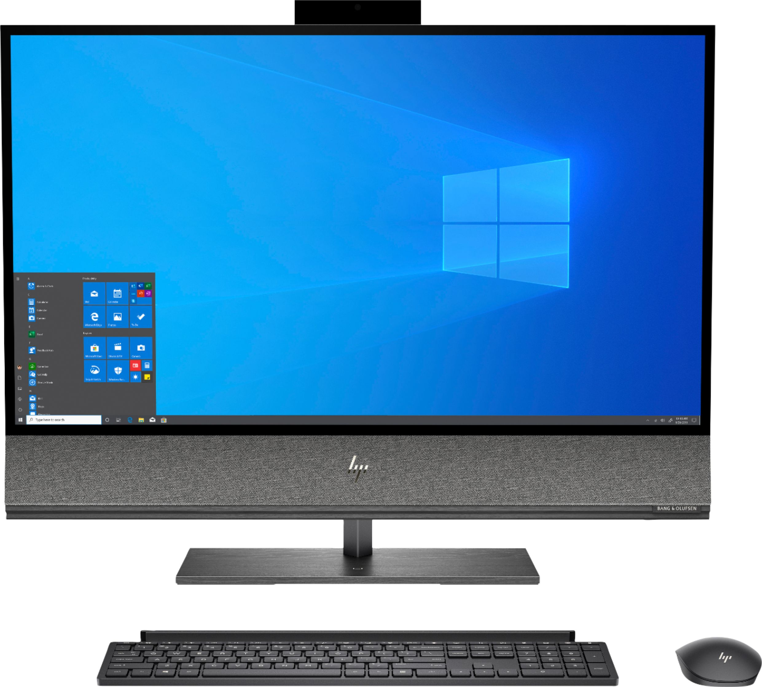 """Front Zoom. HP - ENVY 31.5"""" All-In-One - Intel Core i7 - 16GB Memory - 512GB SSD - Nightfall Black."""