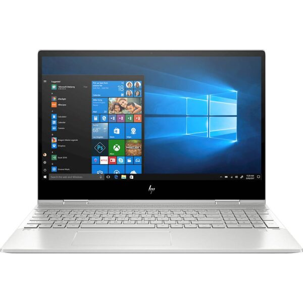"""Front Zoom. HP - ENVY x360 2-in-1 15.6"""" Touch-Screen Laptop - Intel Core i7 - 8GB Memory - 512GB SSD - Natural Silver, Sandblasted Anodized Finish."""