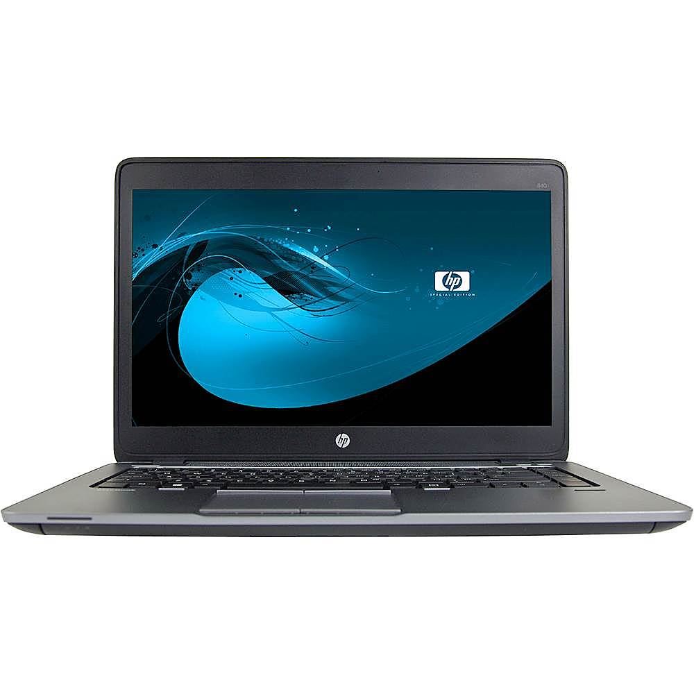 """Front Zoom. HP - EliteBook 14"""" Laptop - Intel Core i5 - 8GB Memory - 500GB Solid State Drive - Pre-Owned - Black."""