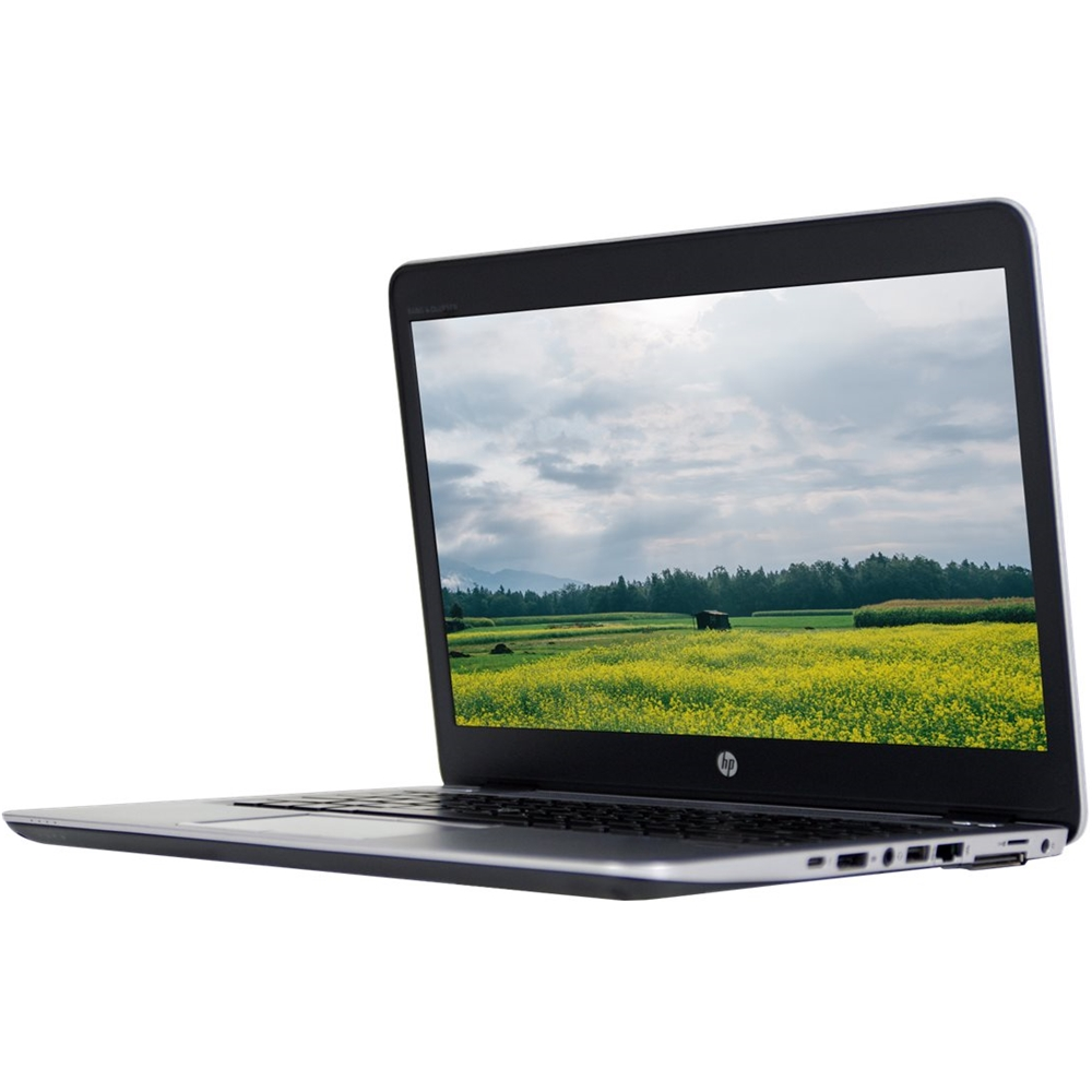 "Front Zoom. HP - EliteBook 14"" Refurbished Laptop - Intel Core i7 - 8GB Memory - 256GB Solid State Drive - Silver."
