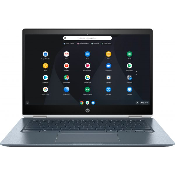 "Front Zoom. HP - Geek Squad Certified Refurbished 14"" Touch-Screen Chromebook - Intel Core i3 - 8GB Memory - 64GB eMMC Flash Memory - White."