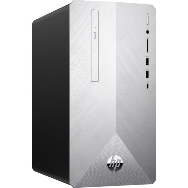 Angle Zoom. HP - Geek Squad Certified Refurbished Pavilion Desktop - Intel Core i5 - 12GB Memory - 1TB HDD + 128GB SSD - Natural Silver/Brushed Hairline Pattern.