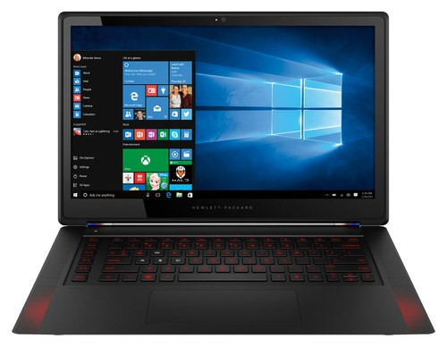 """Front Standard. HP - Omen 15.6"""" Touch-Screen Laptop - Intel Core i7 - 8GB Memory - 256GB Solid State Drive - Black."""