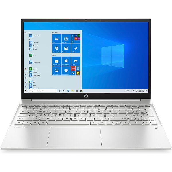 "Front Zoom. HP - Pavilion 15.6"" Laptop - AMD Ryzen 5 4500U - 8GB Memory - 512GB Solid State Drive - Silver."