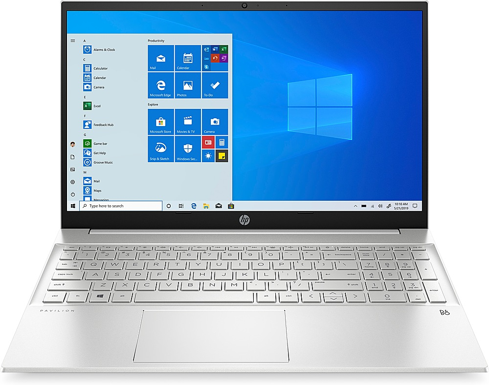 "Front Zoom. HP - Pavilion 15.6"" Laptop - AMD Ryzen 5 4500U - 8GB Memory - 512GB Solid State Drive - Silver - Silver."