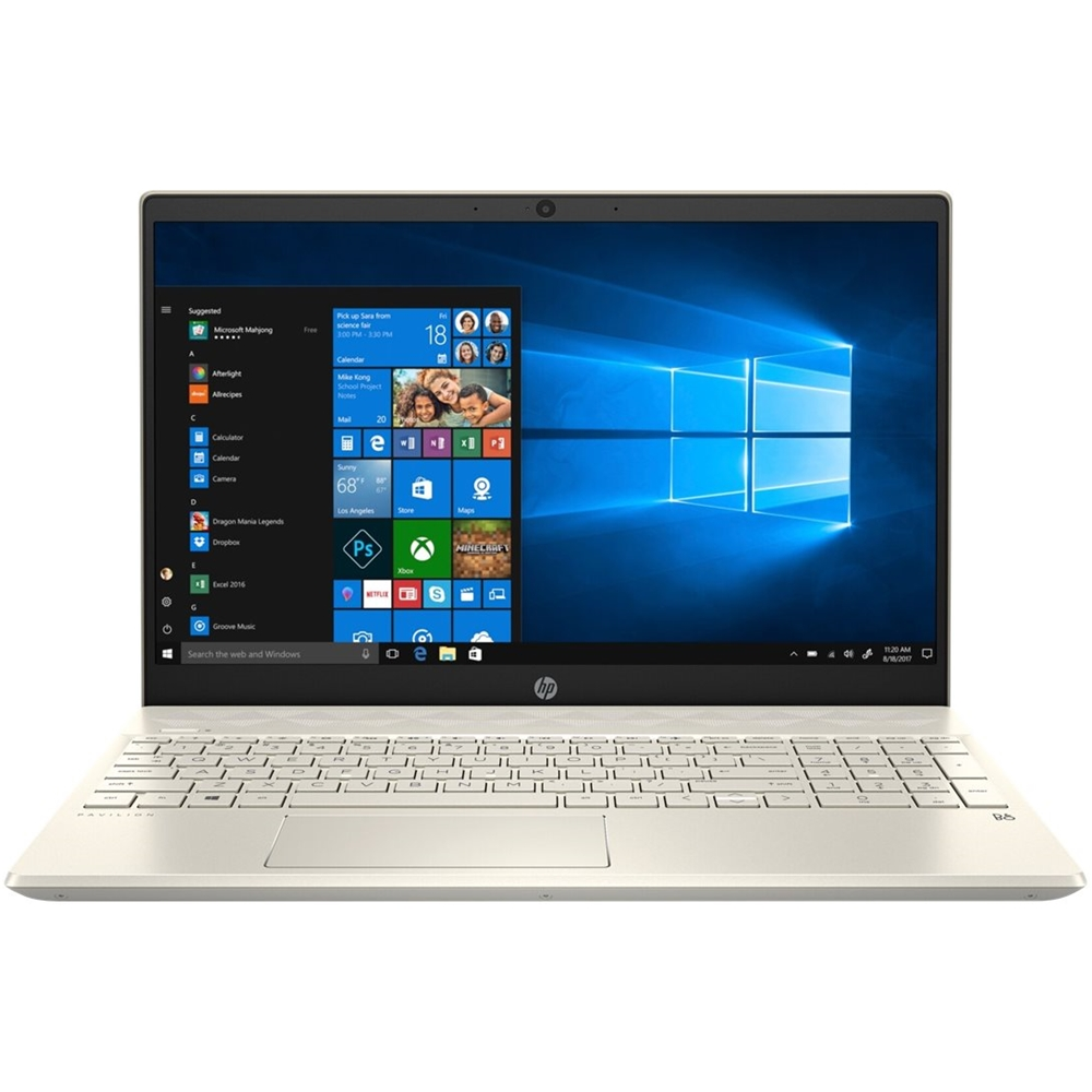 """Front Zoom. HP - Pavilion 15.6"""" Touch-Screen Laptop - AMD Ryzen 3 - 8GB Memory - 1TB HDD - Sandblasted Anodized Finish, Luminous Gold."""