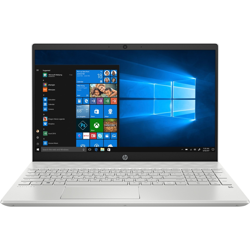 """Front Zoom. HP - Pavilion 15.6"""" Touch-Screen Laptop - Intel Core i7 - 8GB Memory - 512GB SSD - Ceramic White, Sandblasted Anodized Finish."""
