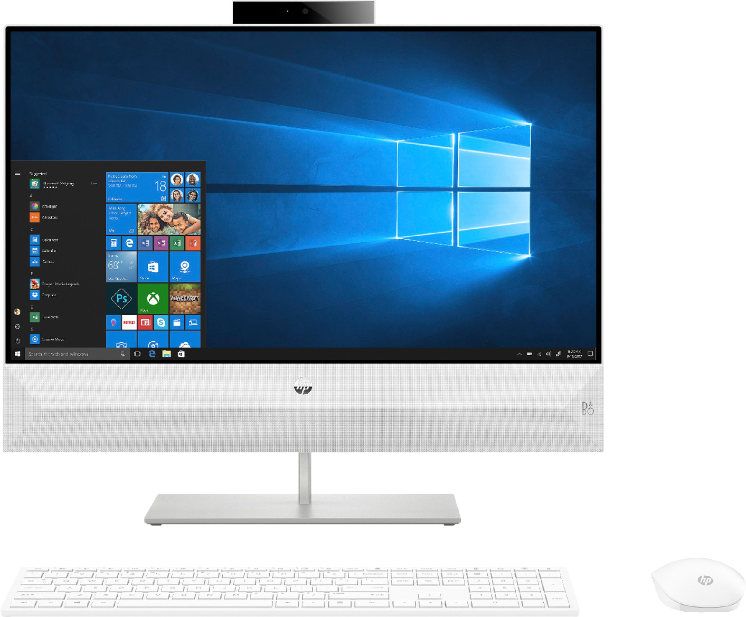 "Front Zoom. HP - Pavilion 23.8"" Touch-Screen All-In-One - Intel Core i5 - 12GB Memory - 256GB Solid State Drive - Snowflake White."