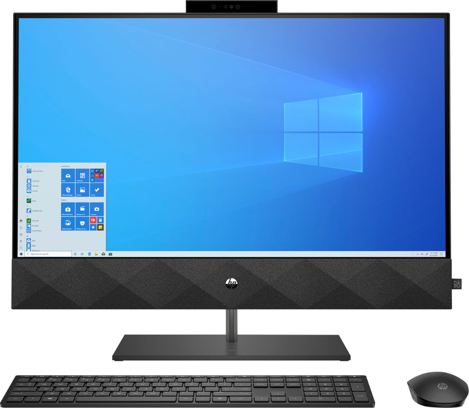 "Front Zoom. HP - Pavilion 27"" Touch-Screen All-In-One - Intel Core i7 - 16GB Memory - 512GB SSD - Sparkling Black."