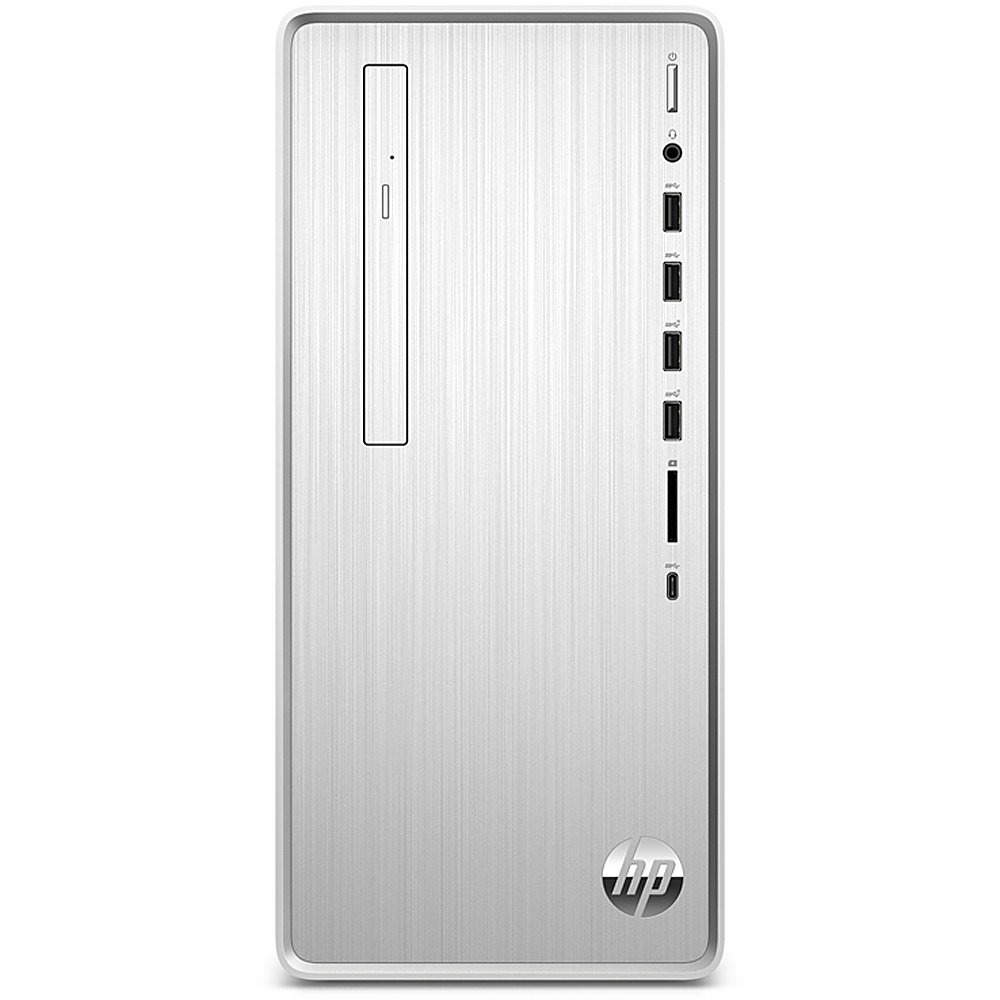 Front Zoom. HP Pavilion Desktop - Intel Core i5-10400 - 8GB -  Intel UHD Graphics 630  -512GB SSD - Silver.