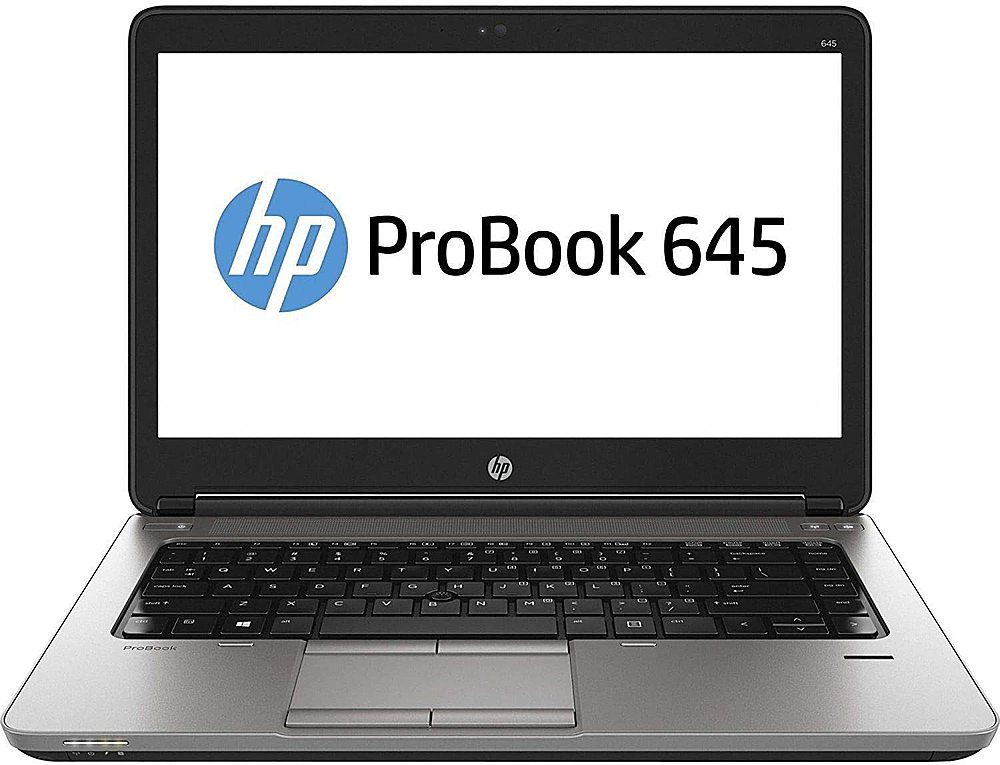 "Front Zoom. HP - ProBook 645 G1 15.6"" Refurbished Laptop - AMD A6 - 8GB Memory - 128GB Solid State Drive."