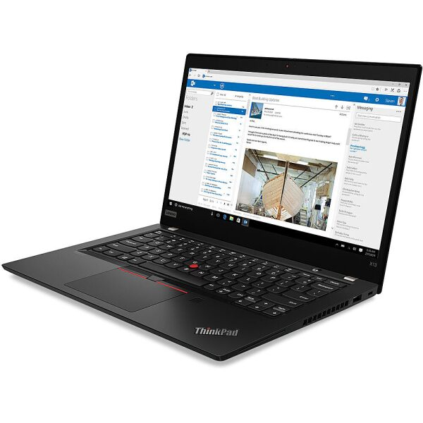 "Angle Zoom. Lenovo - 14"" ThinkPad T14 Gen 1 Laptop - 8GB Memory - AMD Ryzen 5 PRO - 256GB Hard Drive."