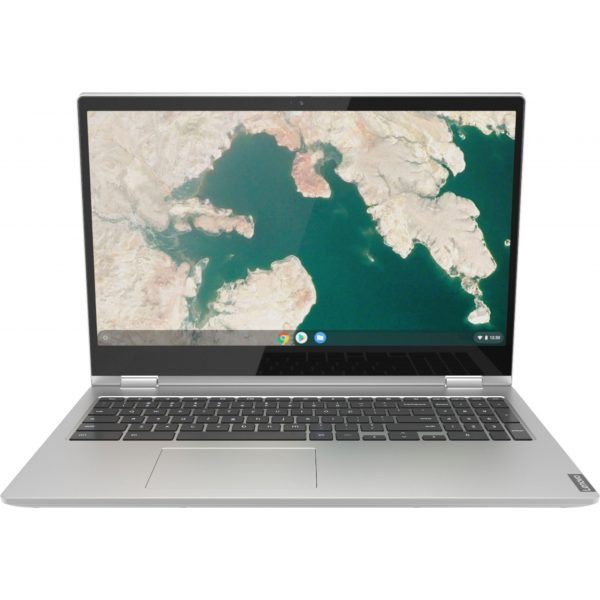 """Front Zoom. Lenovo - C340-15 2-in-1 15.6"""" Touch-Screen Chromebook - Intel Core i3 - 4GB Memory - 64GB eMMC Flash Memory - Mineral Gray."""
