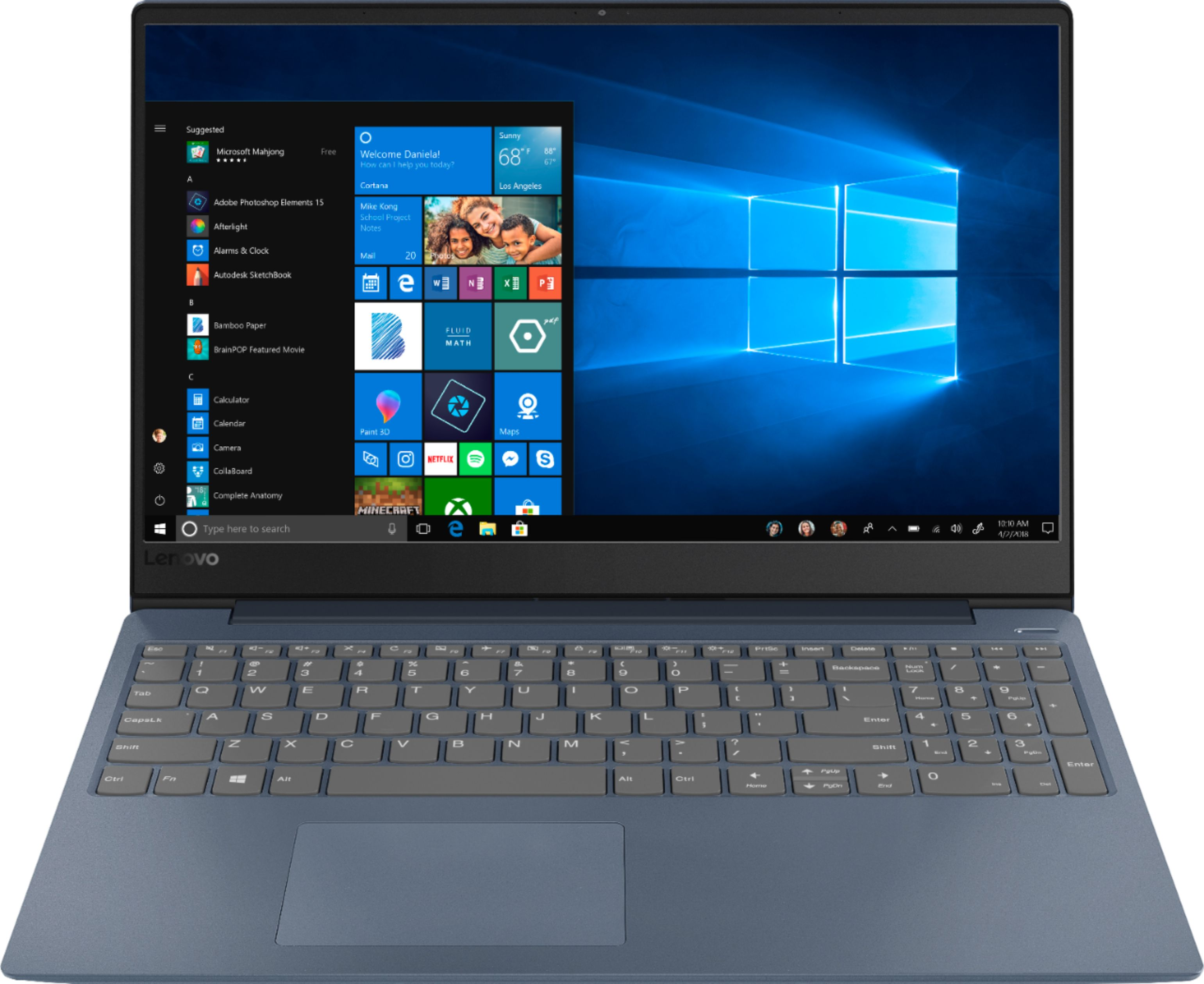"""Front Zoom. Lenovo - Geek Squad Certified Refurbished IdeaPad 330S 15.6"""" Laptop - Intel Core i3 - 4GB Memory - 128GB Solid State Drive - Midnight Blue."""