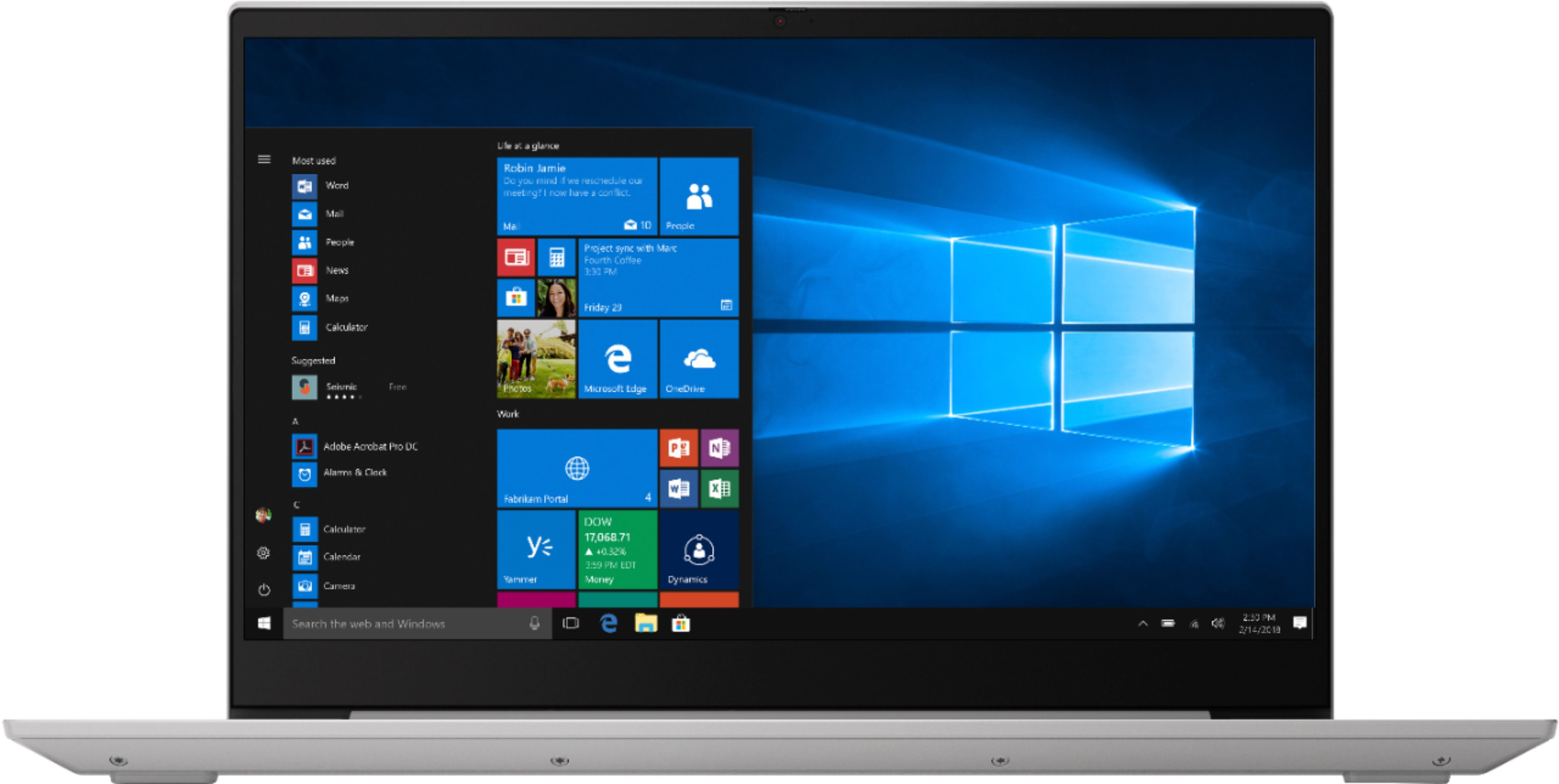 """Front Zoom. Lenovo - Geek Squad Certified Refurbished Ideapad 15.6"""" Touch-Screen Laptop - AMD Ryzen 5 - 12GB Memory - 1TB HDD - Platinum Gray."""