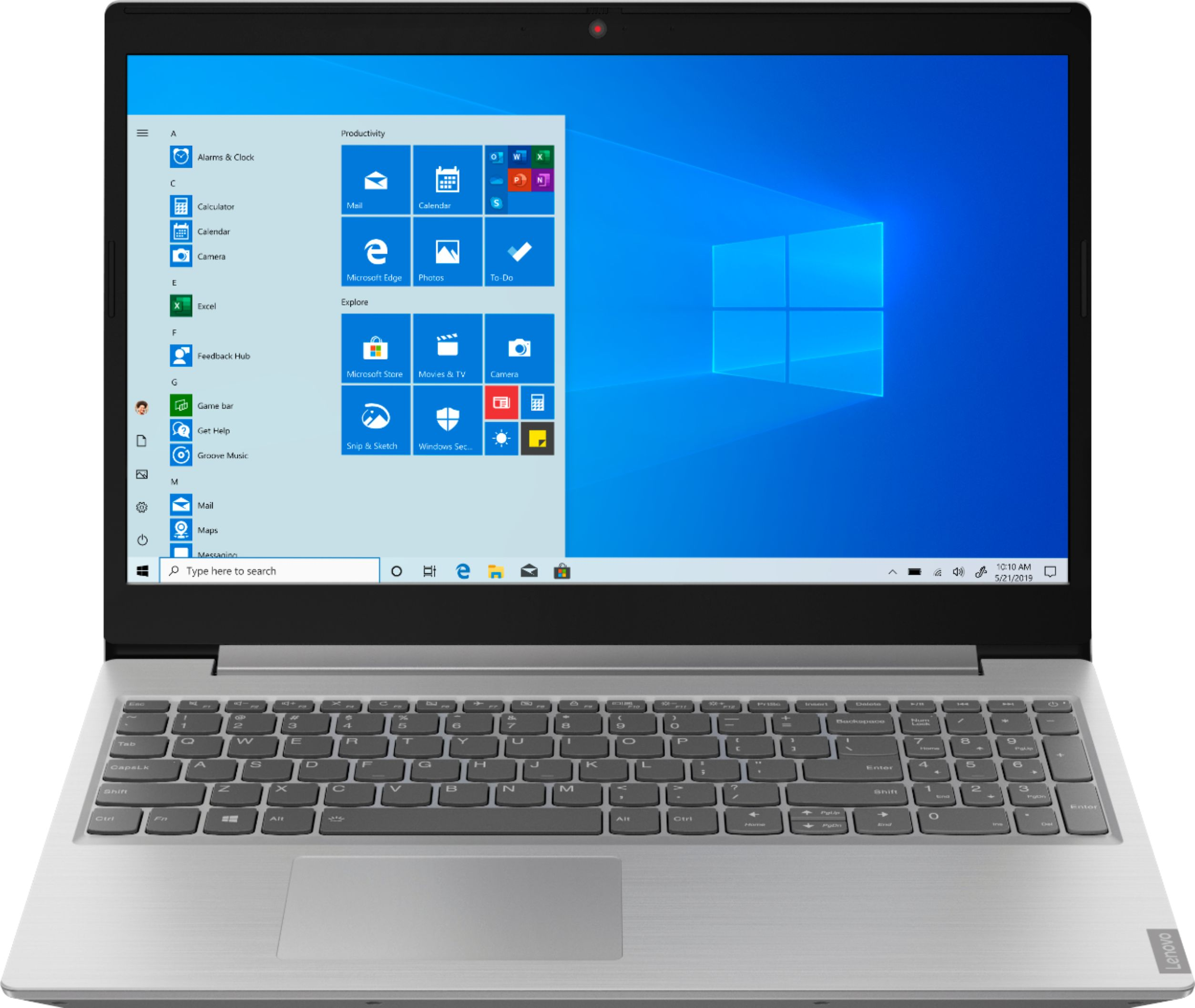 "Front Zoom. Lenovo - Geek Squad Certified Refurbished L340-15API 15.6"" Laptop - AMD Ryzen 3 - 8GB Memory - 1TB HDD - Platinum Gray."