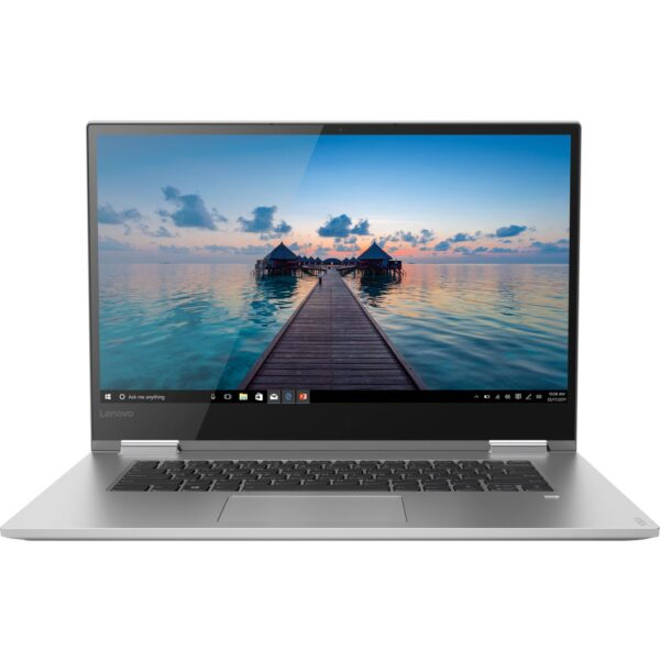 "Front Zoom. Lenovo - Geek Squad Certified Refurbished Yoga 15.6"" 4K UHD Laptop - Intel Core i7 - 16GB Memory - GeForce GTX 1050 - 512GB SSD - Platinum Silver."