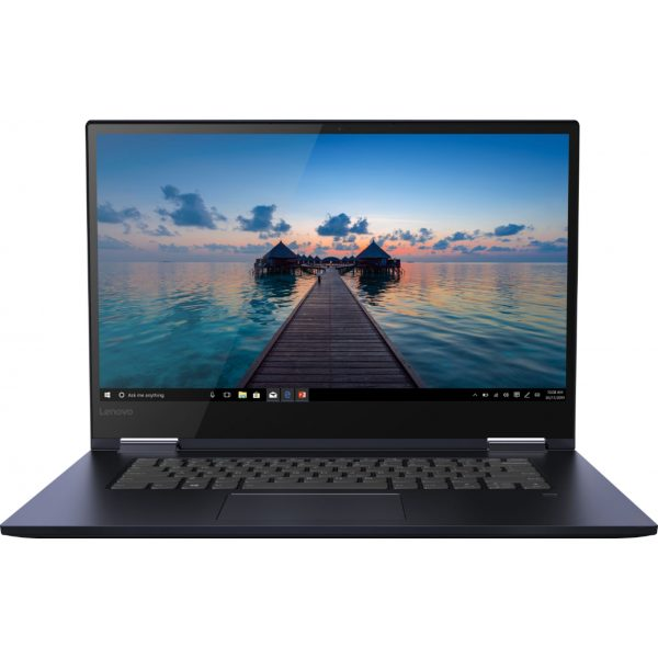 """Front Zoom. Lenovo - Geek Squad Certified Refurbished Yoga 730 2-in-1 15.6"""" Touch-Screen Laptop - Intel Core i7 - 12GB Memory - 256GB SSD - Abyss Blue."""