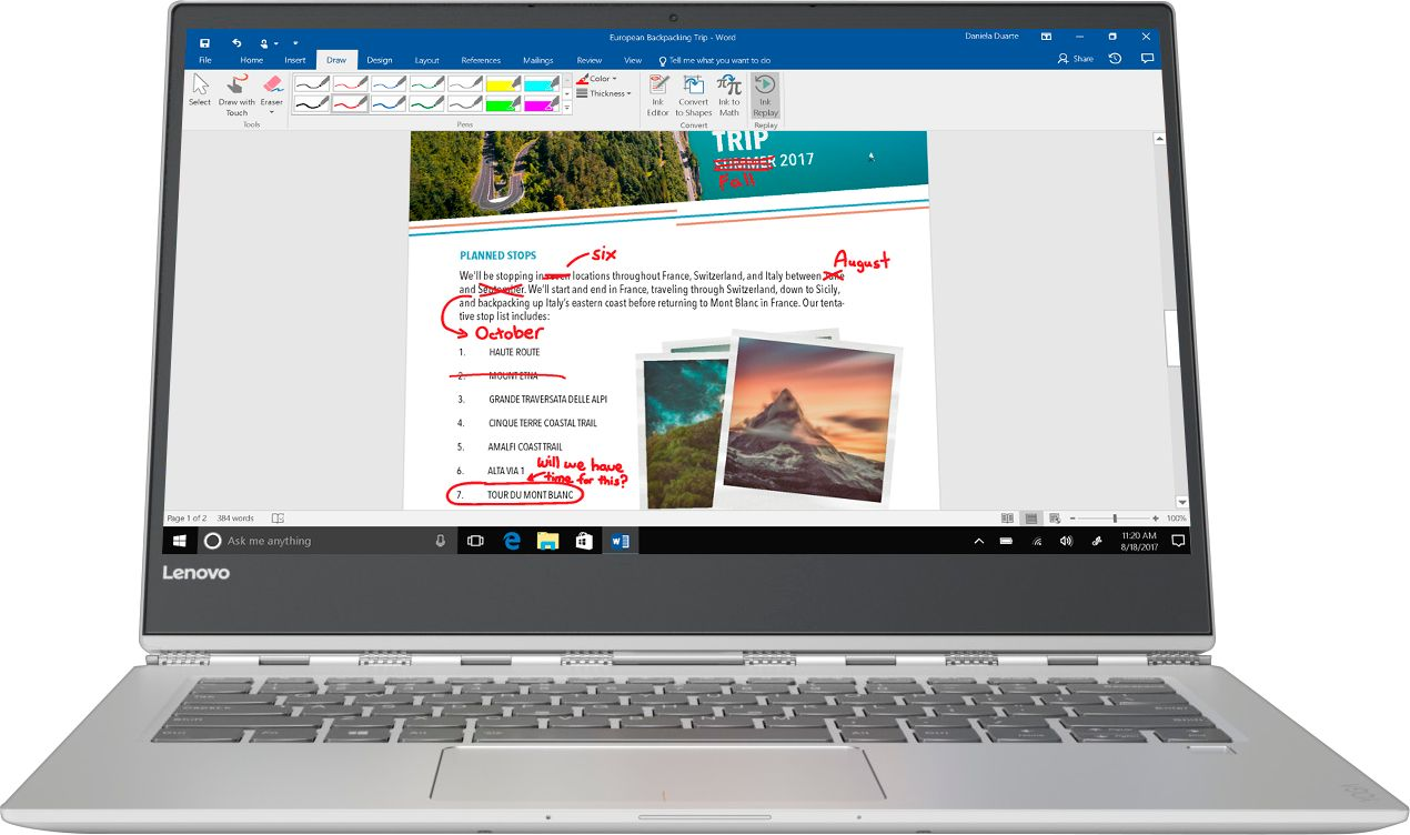 """Front Zoom. Lenovo - Geek Squad Certified Refurbished Yoga 920 2-in-1 13.9"""" 4K Touch-Screen Laptop - Intel Core i7 - 16GB Memory - 512GB SSD - Platinum."""