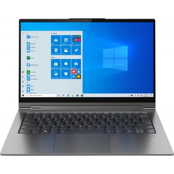 "Front Zoom. Lenovo - Geek Squad Certified Refurbished Yoga C940 2-in-1 14"" Laptop - Intel Core i7 - 12GB Memory - 512GB Solid State Drive - Iron Gray."