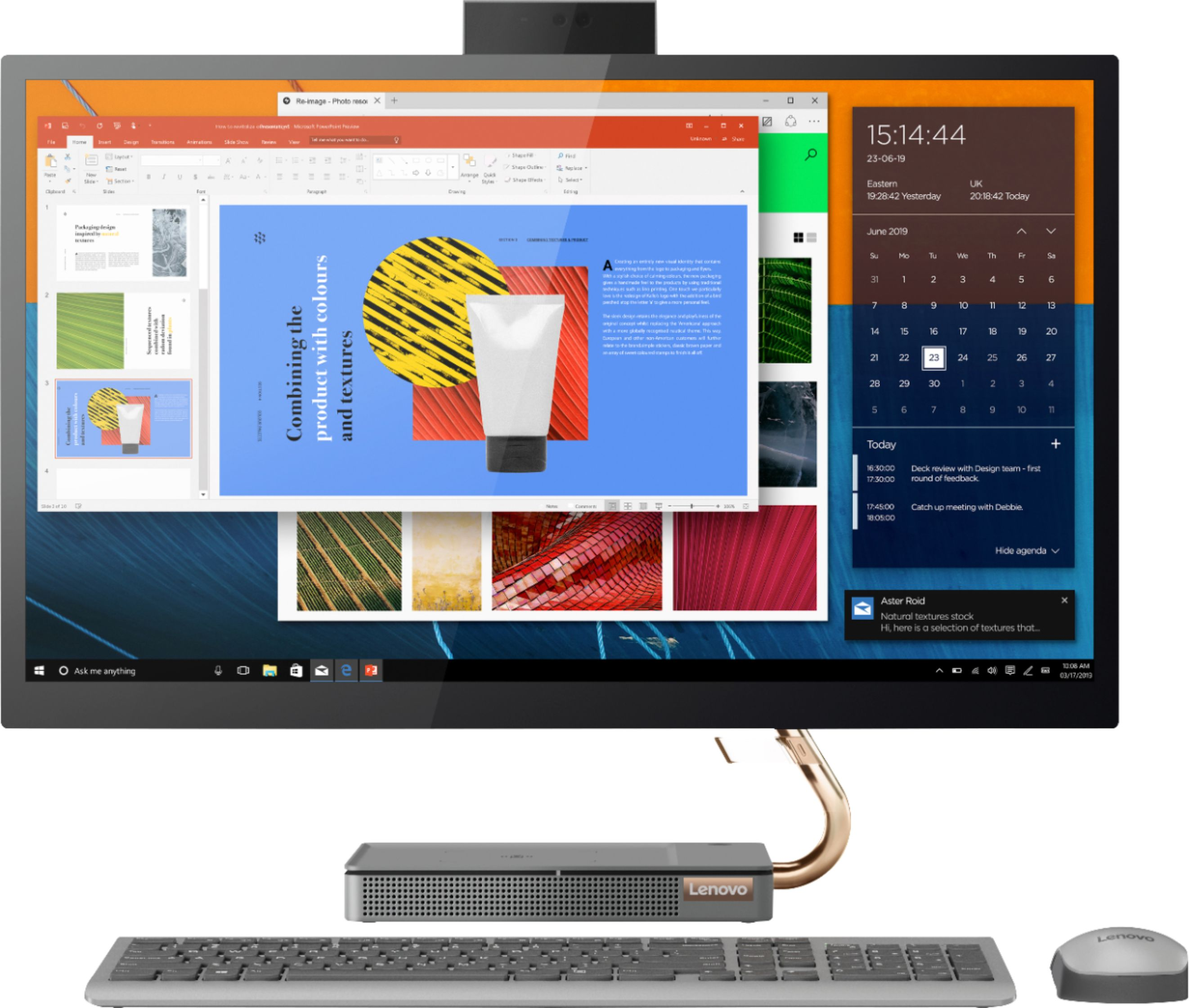 "Front Zoom. Lenovo - IdeaCentre A540-27ICB 27"" Touch-Screen All-In-One - Intel Core i5 - 12GB Memory - 256GB SSD - Mineral Gray."