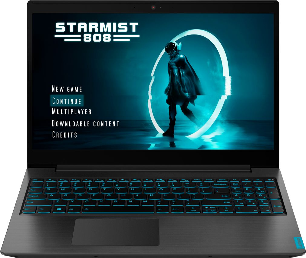 Front Zoom. Lenovo - IdeaPad L340 15 Gaming Laptop - Intel Core i5 - 8GB Memory - NVIDIA GeForce GTX 1650 - 256GB Solid State Drive - Black.