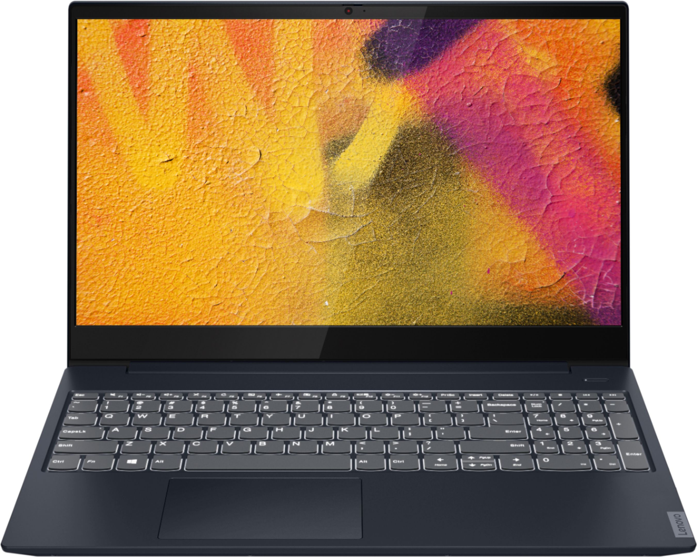 """Front Zoom. Lenovo - IdeaPad S340 15"""" Touch-Screen Laptop - AMD Ryzen 7 3700U - 12GB Memory - 512GB Solid State Drive - Abyss Blue."""
