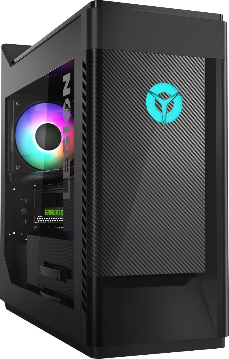 Front Zoom. Lenovo - Legion Gaming Desktop - Intel Core i5 - 9400F - 8GB Memory - NVIDIA GeForce GTX 1660 - 1TB HDD + 256GB SSD - Phantom Black.