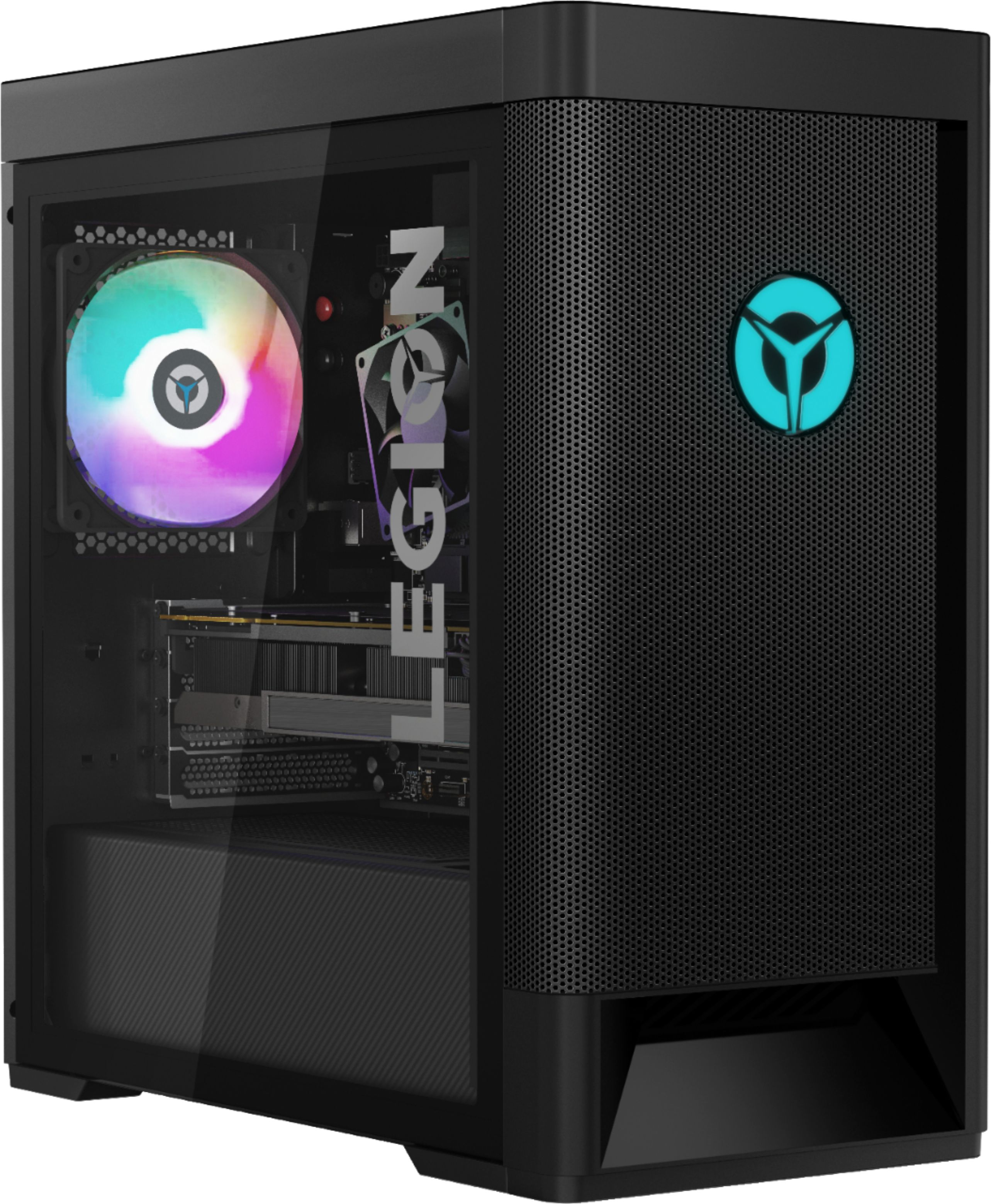 Front Zoom. Lenovo - Legion Tower 5 AMD Gaming Desktop - AMD Ryzen 5-3600 - 8GB Memory - NVIDIA GeForce GTX 1650 Super - 512GB SSD - Phantom Black.