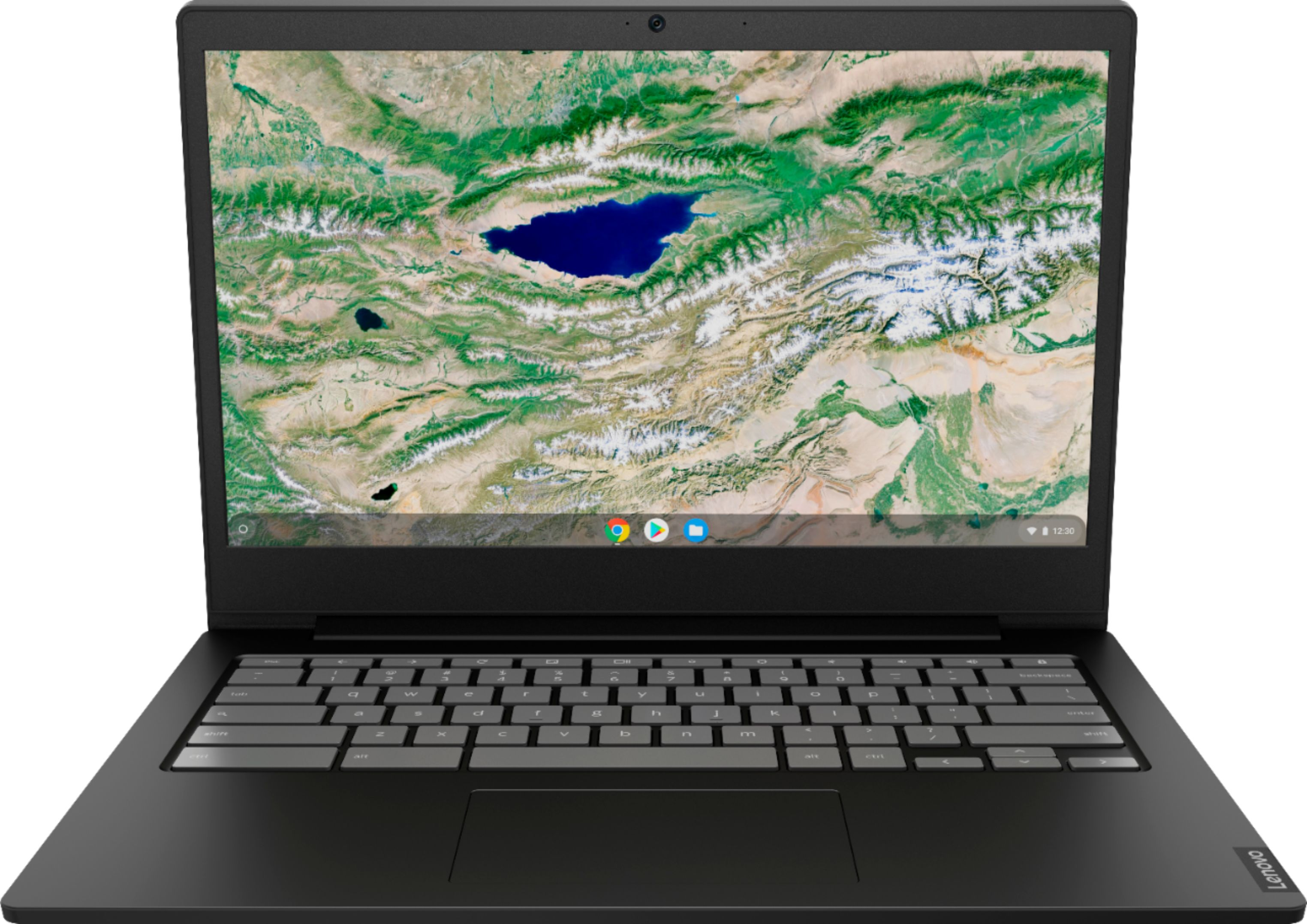 """Front Zoom. Lenovo - S340-14 Touch 14"""" Touch-Screen Chromebook - Intel Celeron - 4GB Memory - 32GB eMMC Flash Memory - Onyx Black."""