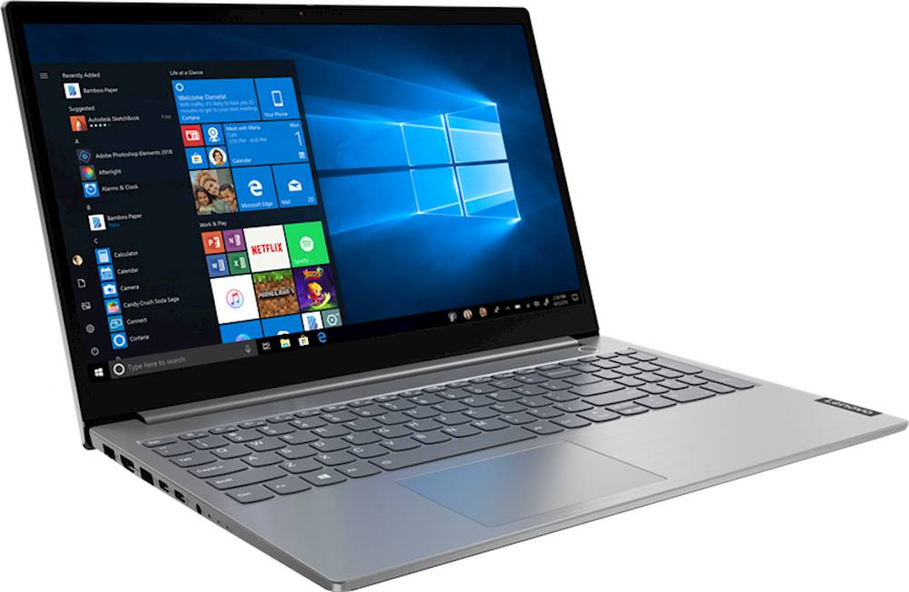 """Angle Zoom. Lenovo - ThinkBook 15 IIL 15.6"""" Laptop - Intel Core i5 - 8GB Memory - 256GB Solid State Drive - Mineral Gray."""