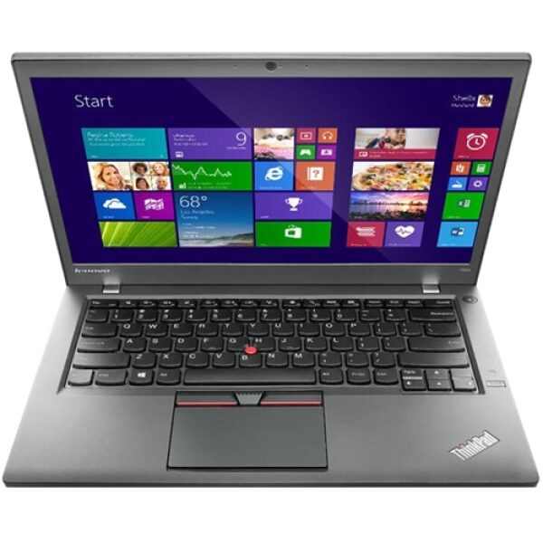 "Front Standard. Lenovo - ThinkPad 14"" Refurbished Laptop - Intel Core i5 - 8GB Memory - 500GB Solid State Drive - Black."