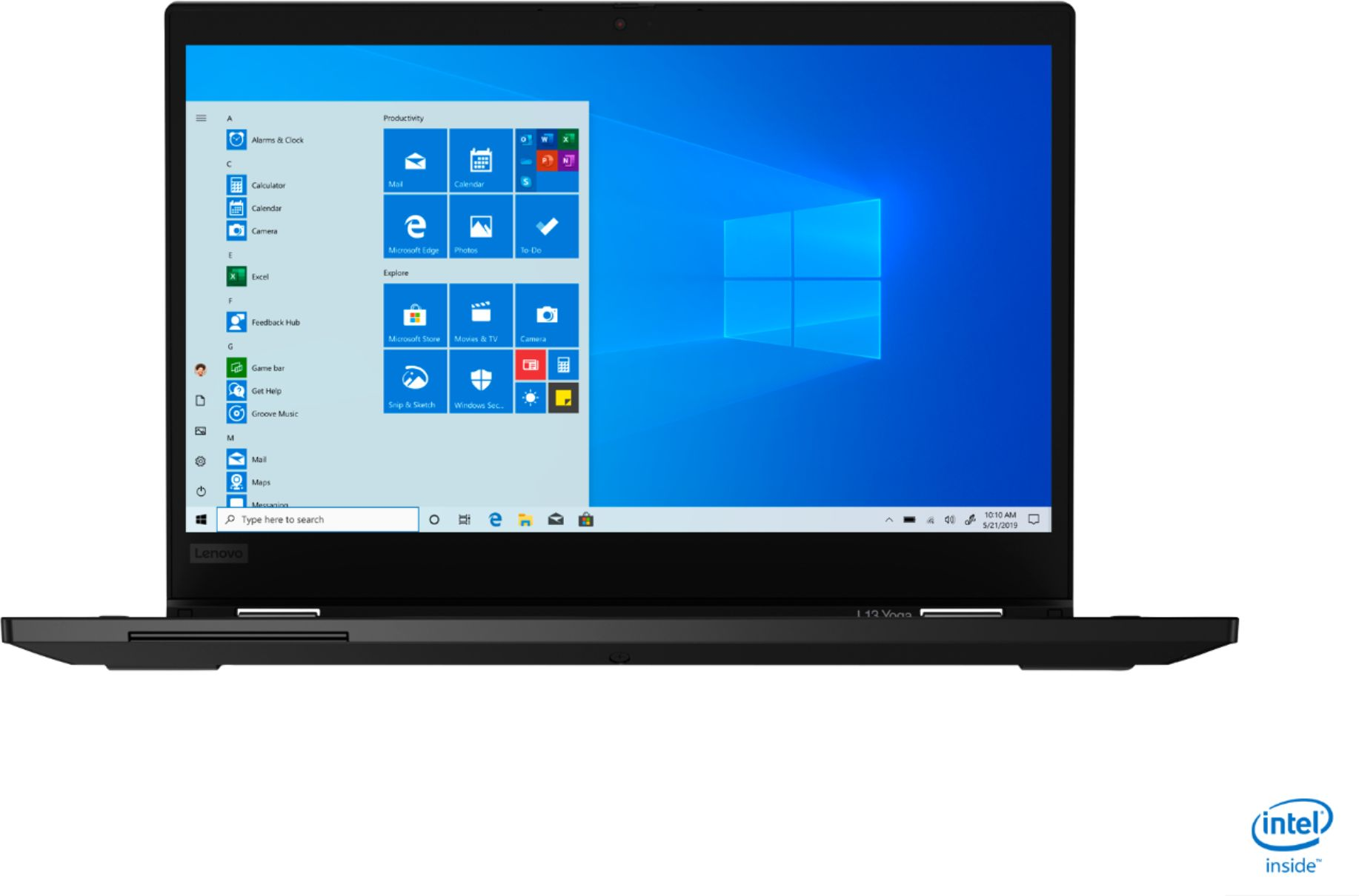 """Front Zoom. Lenovo - ThinkPad L13 Yoga 2-in-1 13.3"""" Touch-Screen Laptop - Intel Core i5 - 8GB Memory - 256GB SSD - Black."""