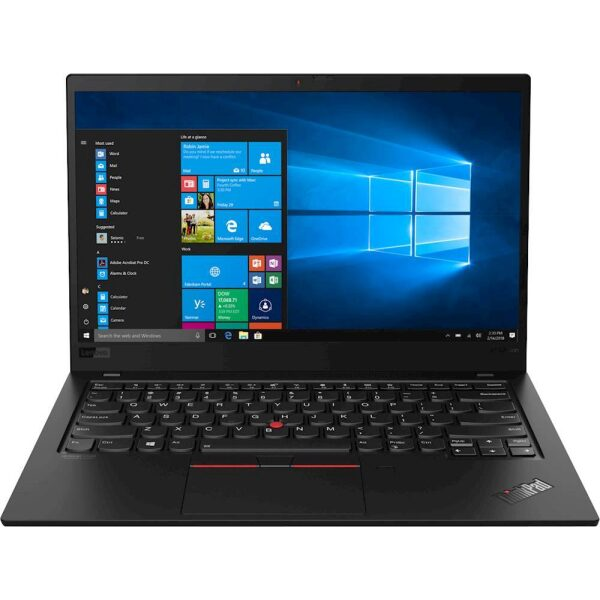 "Front Zoom. Lenovo - ThinkPad X1 Carbon 14"" Touch-Screen Laptop - Intel Core i7 - 8GB Memory - 256GB Solid State Drive - Black."