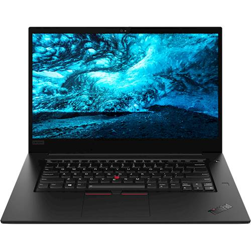 """Front Standard. Lenovo - ThinkPad X1 Extreme 15.6"""" Laptop - Intel Core i7 - 16GB Memory - NVIDIA GeForce GTX 1650 - 512GB Solid State Drive - Black Paint."""