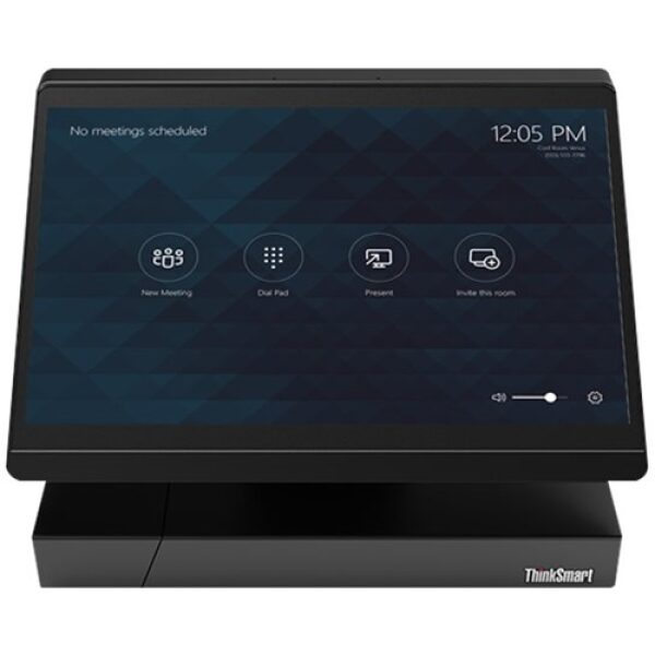 """Front Standard. Lenovo - ThinkSmart Hub 500 11.6"""" Touch-Screen All-In-One - Intel Core i5 - 8GB Memory - 128GB Solid State Drive - Business Black."""
