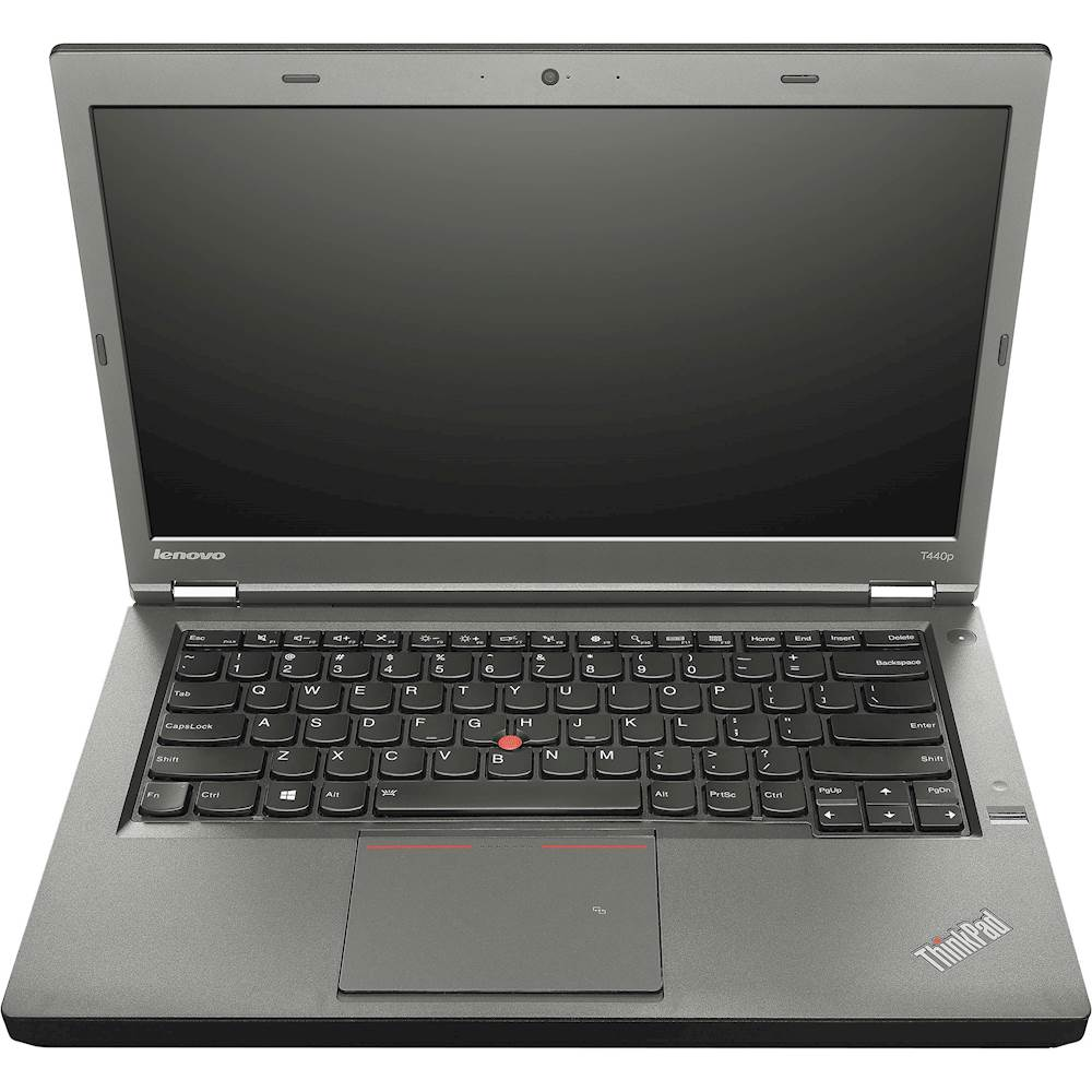 "Front Zoom. Lenovo - Thinkpad 14"" Refurbished Laptop - Intel Core i5 - 4GB Memory - 500GB Hard Drive - Black."