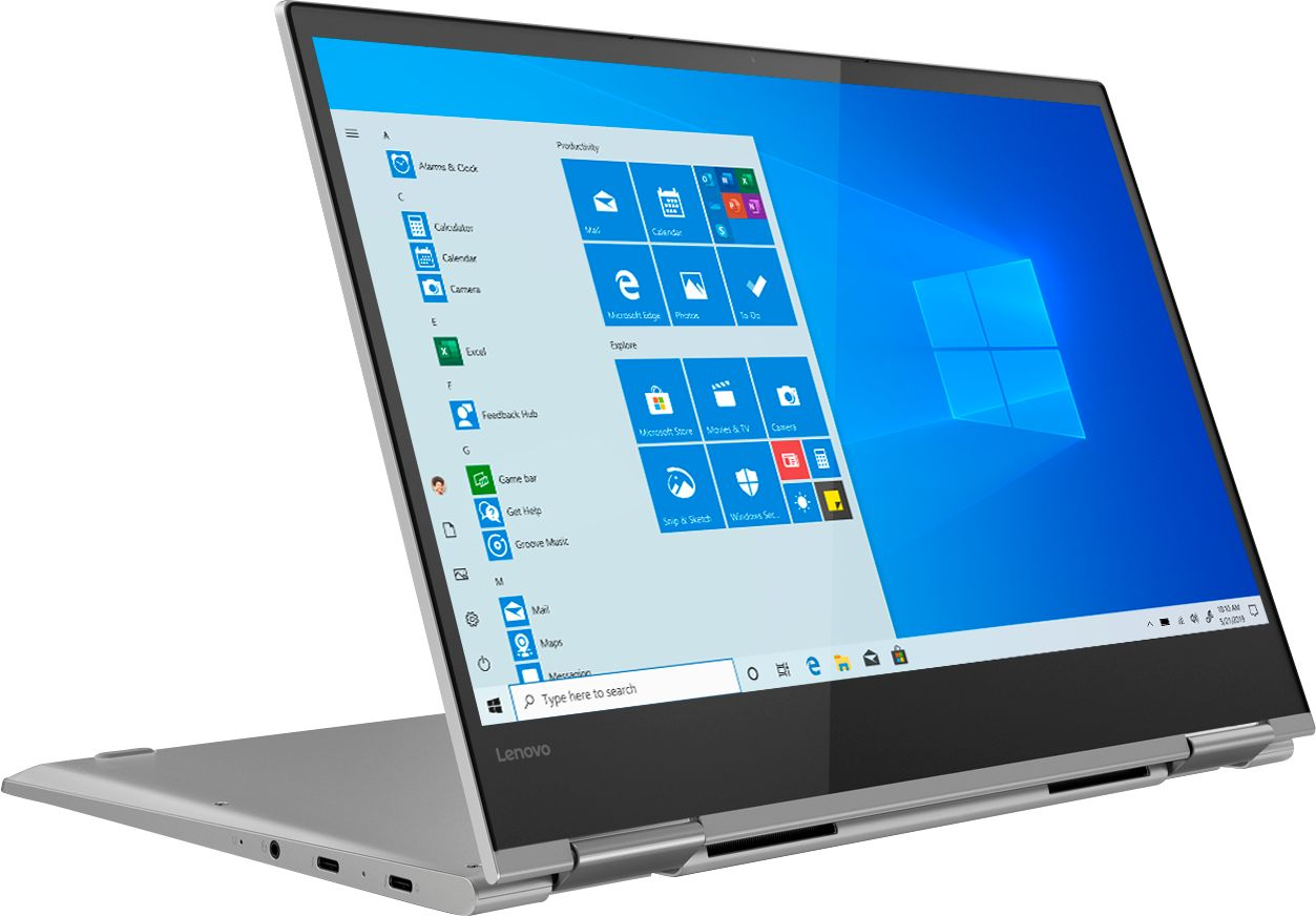 """Angle Zoom. Lenovo - Yoga 730 2-in-1 13.3"""" Touch-Screen Laptop - Intel Core i5 - 8GB Memory - 256GB Solid State Drive - Platinum."""