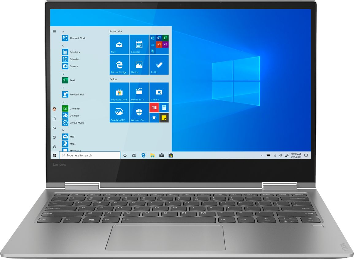 """Front Zoom. Lenovo - Yoga 730 2-in-1 13.3"""" Touch-Screen Laptop - Intel Core i5 - 8GB Memory - 256GB Solid State Drive - Platinum."""