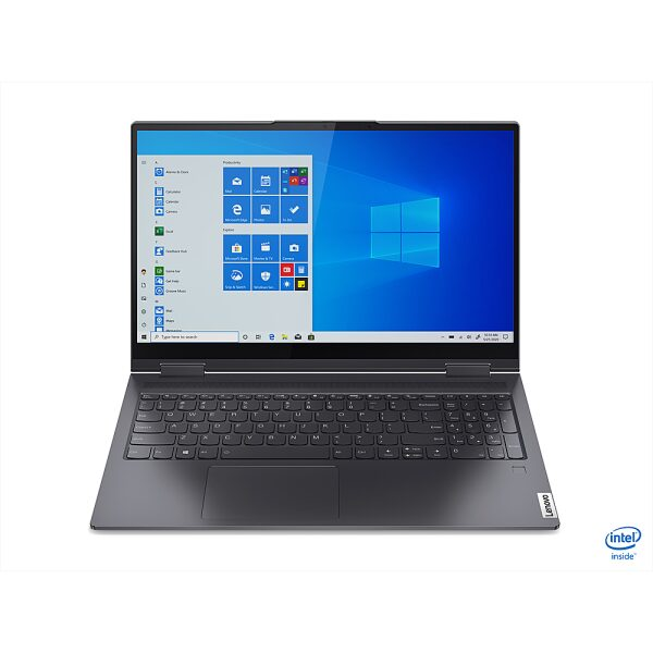 """Front Zoom. Lenovo - Yoga 7i 15 2-in-1 15.6"""" Touch Screen Laptop - Intel Core i7 - 16GB Memory - 1024GB SSD - Slate Grey."""
