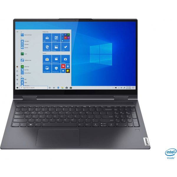 """Front Zoom. Lenovo - Yoga 7i 2-in-1 15.6"""" Touch Screen Laptop - Intel Core i5 - 8GB Memory - 256GB Solid State Drive - Slate Grey."""